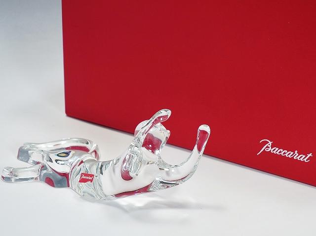 【バカラ ネコ フィギュリン】(Baccarat クリスタルガラス 高級 猫 インテリア 置物 フィギュア)【中古】