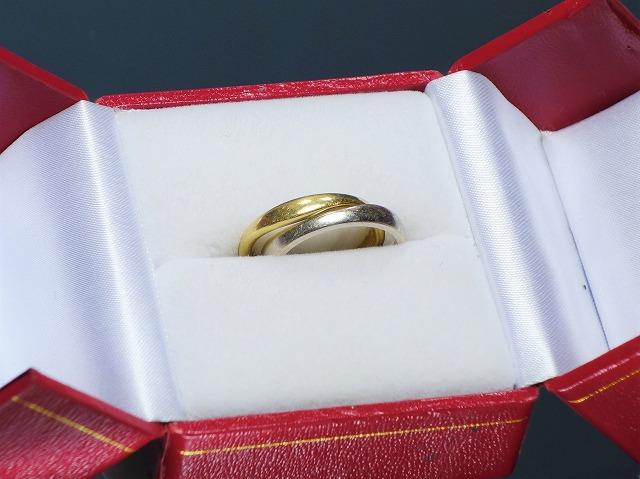 Cartierカルティエ ラブミーリング 750YG WG ツーカラーゴールド 2way 50.5サイズ【中古】