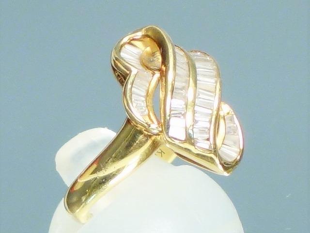K18 【0.7ct】ダイヤモンド デザインリング #9【中古】