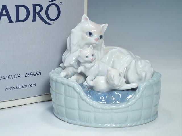 リヤドロ LLADRO ペルシャ猫の親子 ねこ #6652【中古】