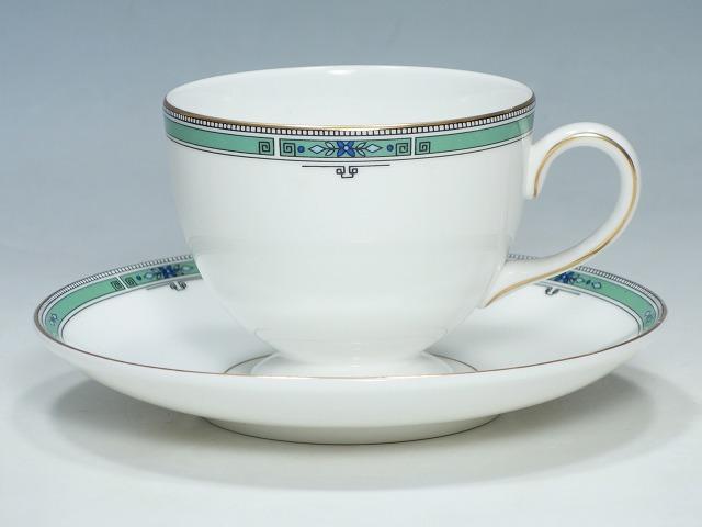 販売期間 限定のお得なタイムセール リー コーヒー 兼用 JADE 廃盤品 中古 商い ウェッジウッド ソーサー ジェイド ティーカップ WEDGWOOD