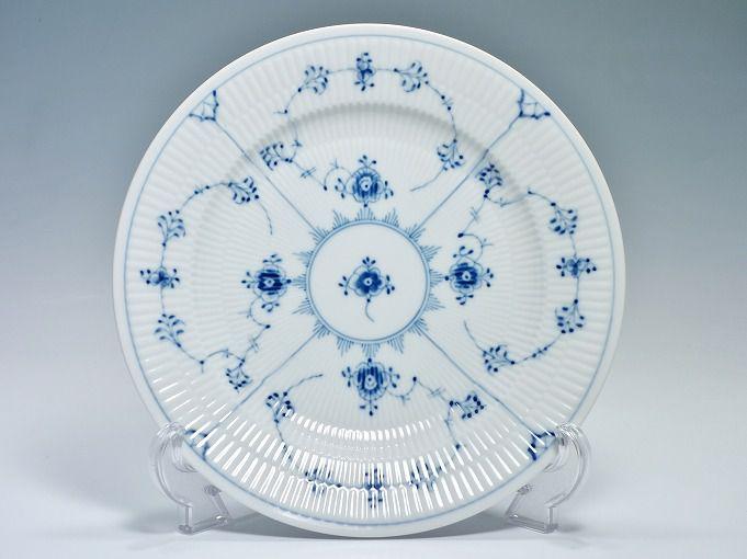 Royal Copemhagen ロイヤルコペンハーゲン ブルーフルーテッドプレイン 25.5cmプレート ディーププレート 深皿 【中古】
