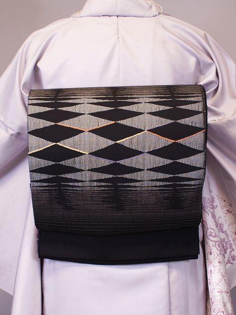 おしゃれな手織工藝袋帯 限定品にてお買い得価格 K1140