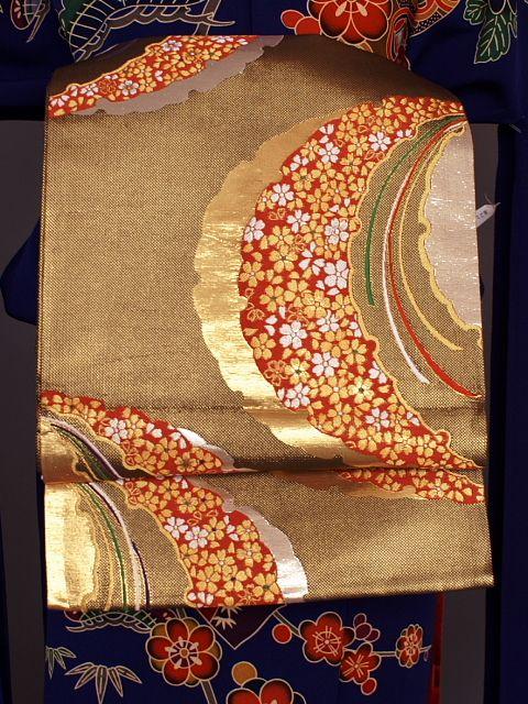 格安価格!シンプルな柄の正絹袋帯 O1126Z