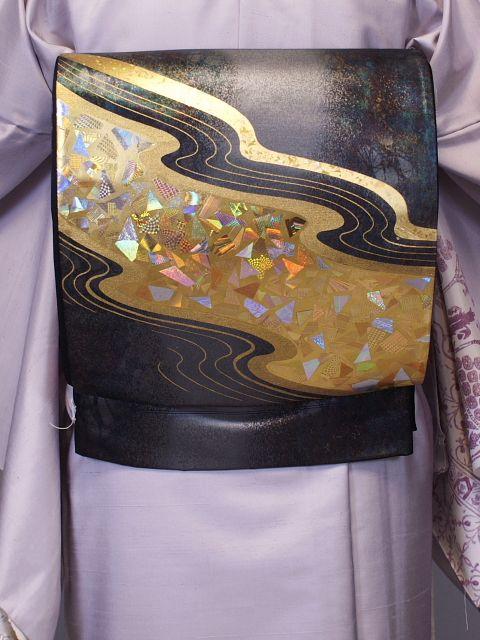 フォーマルから おしゃれまで着用できる正絹袋帯 P0104