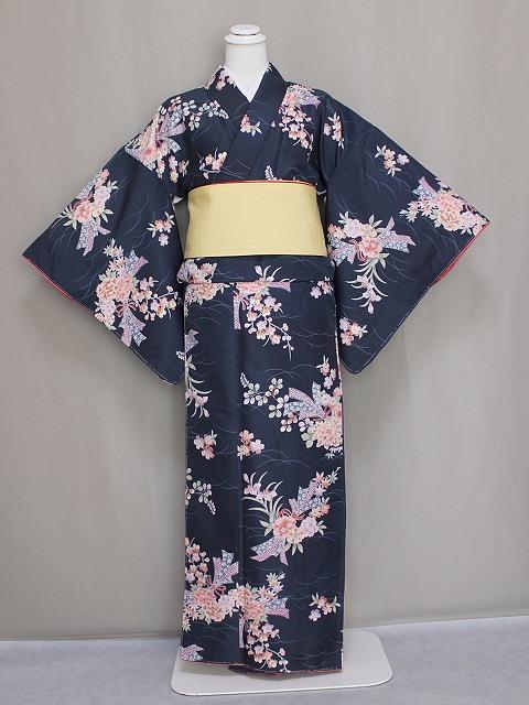 高級ブランド R-KIKUCHIのおしゃれな袷仕立て着物・小紋 変わり織 送料無料 W0453-26