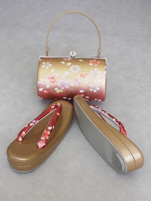 大きめサイズ草履 バッグとのセット たっぷりサイズの草履とバッグのセット 振袖用 フォーマル用セット D3789-02