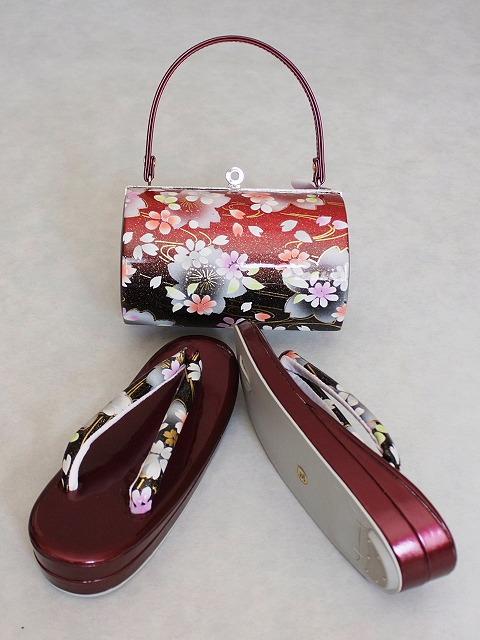 大きめサイズ草履 バッグとのセット たっぷりサイズの草履とバッグのセット 振袖用 フォーマル用セット D3789-03