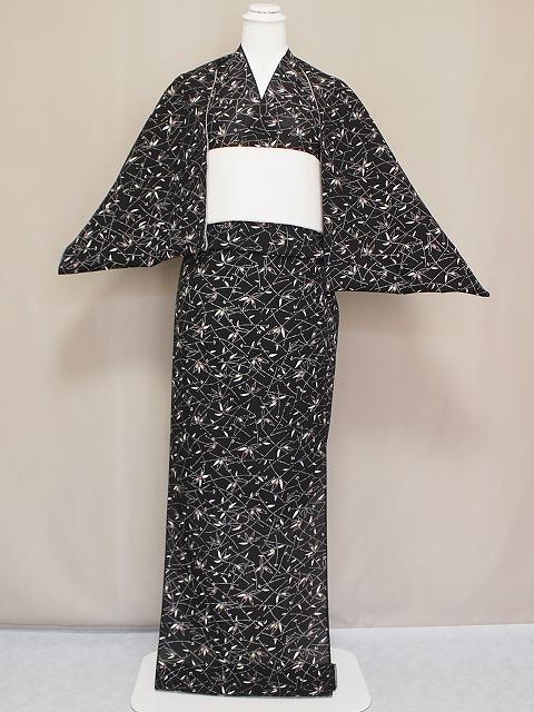 夏のおしゃれ着物 正絹絽小紋 東京染の絽の小紋 V4195