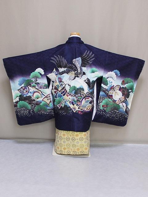 子供着物 五歳男児着物と袴のセット 五歳男児・七五三用着物セット D4458-09
