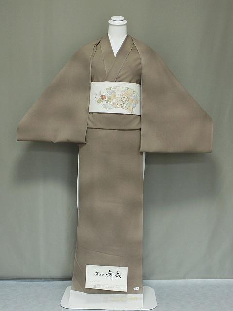 格安 単衣(ひとえ)用・夏用に無地調の着物・反物 未仕立品 丹後ちりめん W0350-01
