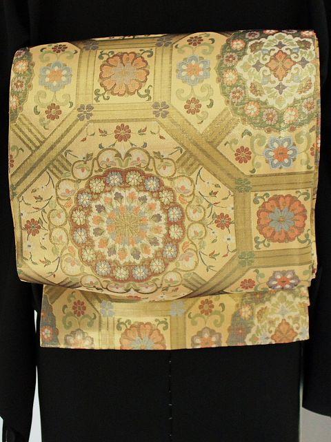 送料無料!超大特価 お仕立済 希少価値な格調高い正絹丸帯・袋帯 L3798