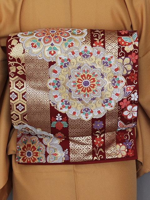 袋帯 振袖用 正絹袋帯 当店在庫処分 お仕立て済 K1141