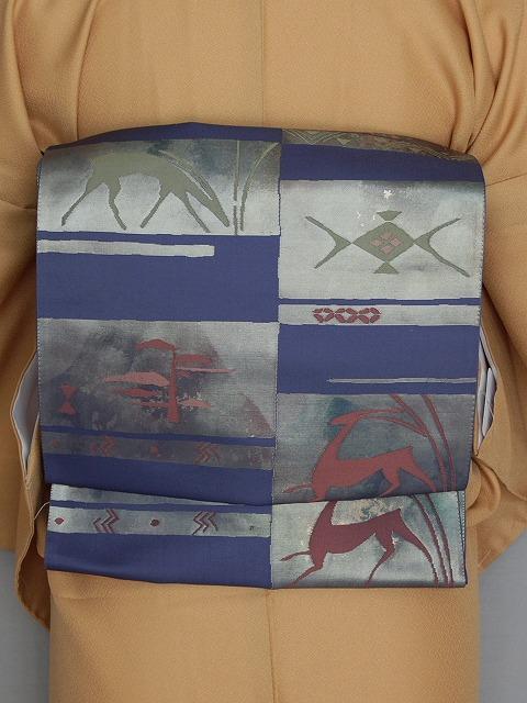袋帯 正絹 箔の帯 伝統工芸士の帯 西陣織 お仕立て済 当店在庫処分 K1962