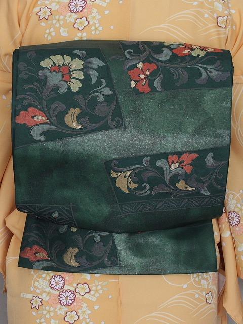 袋帯 正絹袋帯 お仕立て済 当店在庫処分 E4390