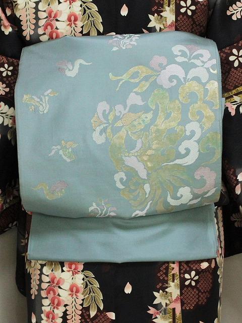 袋帯 正絹 難あり 訳あり帯 西陣織 未仕立 送料無料 E7096