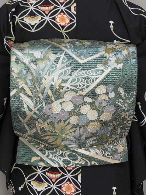 袋帯 正絹袋帯 お仕立て済 当店在庫処分 G158-01