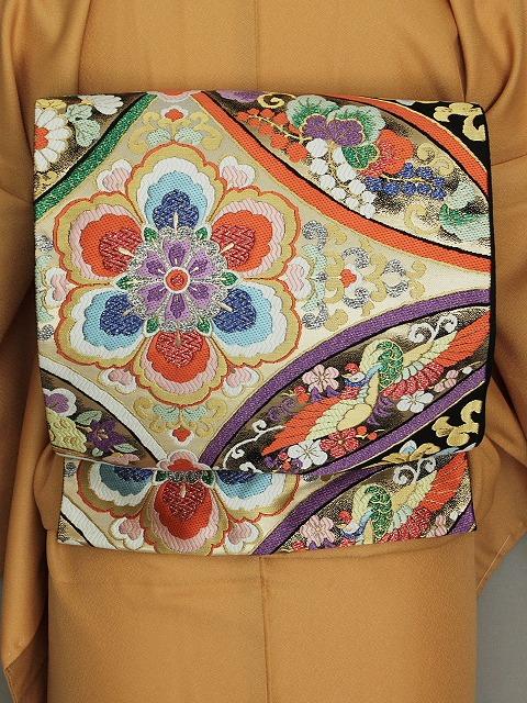 袋帯 振袖用 正絹袋帯 当店在庫処分 お仕立て済 I0280