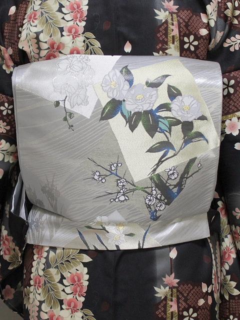 袋帯 正絹袋帯 お仕立て済 当店在庫処分 K1139-2