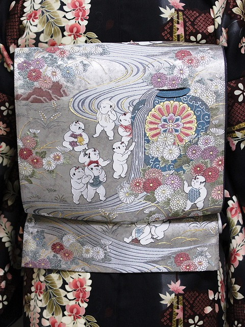 袋帯 正絹袋帯 お仕立て済 当店在庫処分 K3206