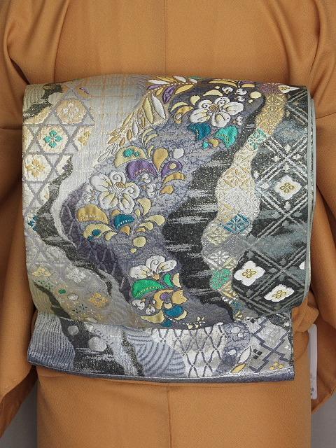 袋帯 正絹袋帯 お仕立て済 当店在庫処分 P0080
