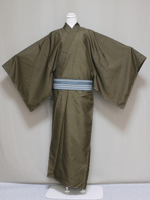 男着物 単品 お仕立上り 袷のきもの 無地 送料無料 男性用着物 LLサイズ E1025LL