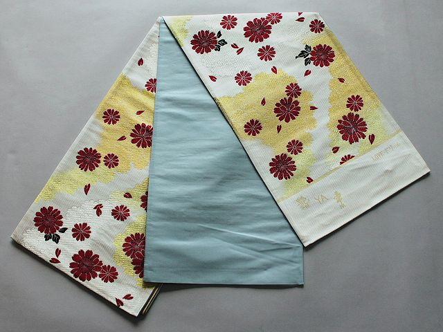 激安!Wサービス!日本製高級正絹袋帯(未仕立) U6211