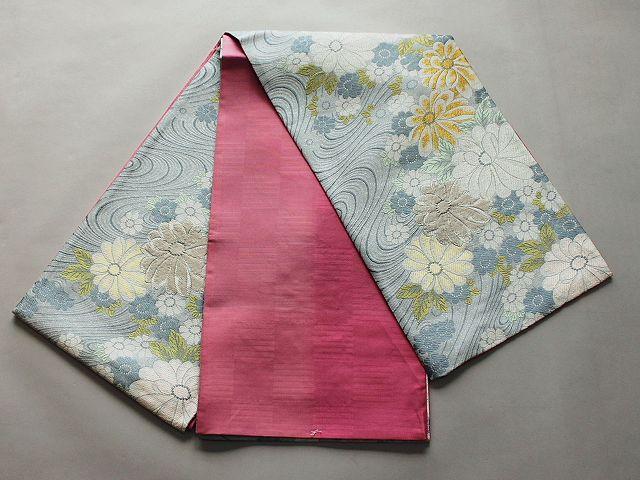 激安!Wサービス!日本製高級正絹袋帯(未仕立) U6260