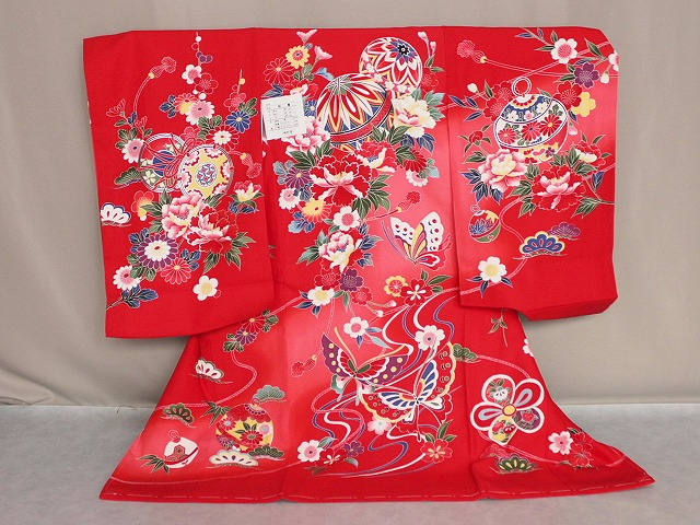 初着 新色・新柄です 女の子お宮参り用着物 正絹女児初着 送料無料 E1896-05
