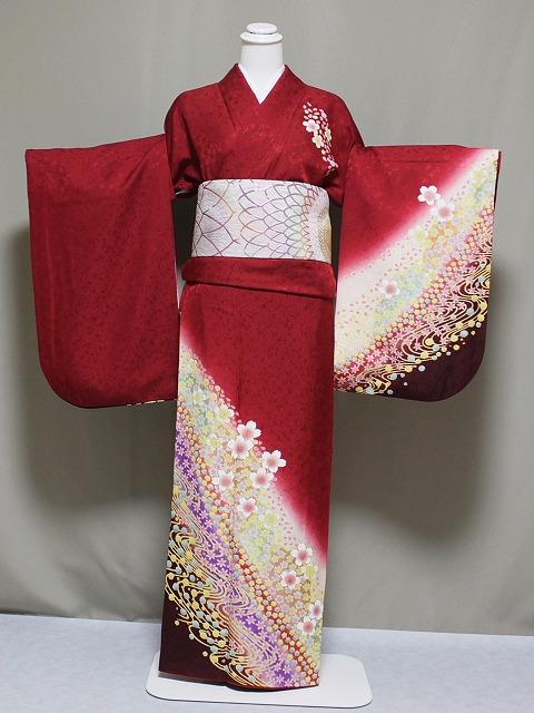 少々難あり(?) お袖の調整します 正絹訪問着の仕立て済 お袖の長さをお好みに Z2909-05H
