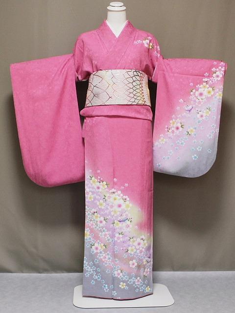 少々難あり(?) お袖の調整します 正絹訪問着の仕立て済 お袖の長さをお好みに Z2909-15H
