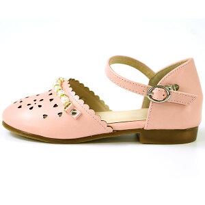 在庫一掃セール 9 11 1:59まで 新作販売 サンダル 超定番 パンプス 子供 靴 S-LYP1101K ピンク amitie ジュニア キッズ tok