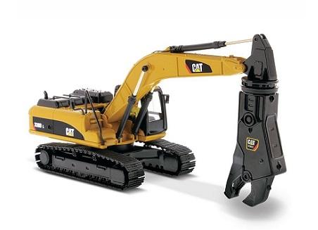 『1/50 Cat 330D L 油圧ショベル+シャー(大型破砕機)』ダイキャストマスター