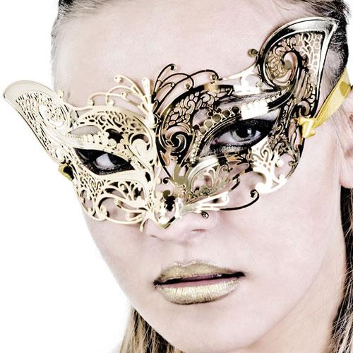 venicemask027-sara-gold-グレイスフルメタル・ゴールドマスク◆サラ◆MADEinITALY◆vml027【☆在庫処分セール☆】※販売終了/在庫限り※