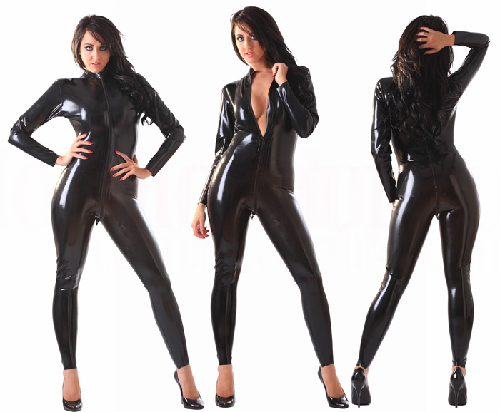 【skinfit】wwr1056-男女兼用☆ラバーキャットスーツ【送料無料】【大きいサイズ取り寄せできます】