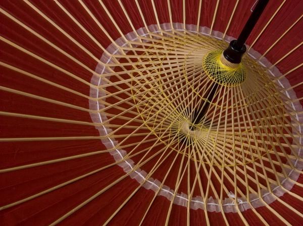 本物和傘/蛇の目傘(絹)赤