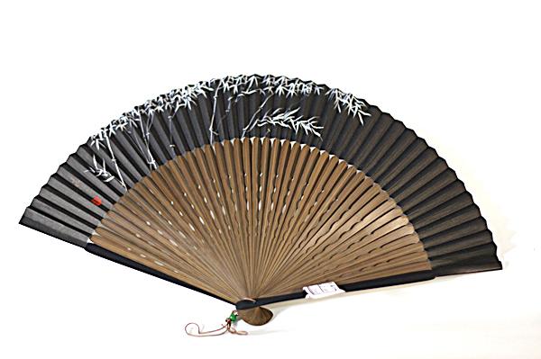 【男性用】竹を描いた京扇子(Z1001)