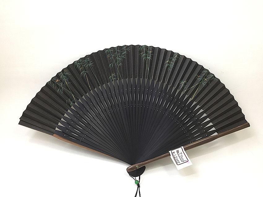 【男性用】竹が描かれた男性用京扇子(T7006)【在庫1本限り】
