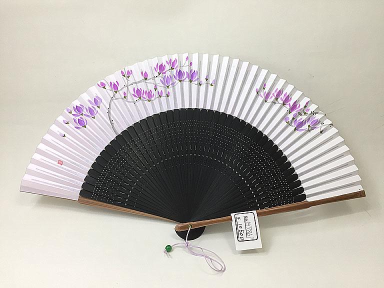 【女性用】木蓮が描かれた京扇子(B7861)