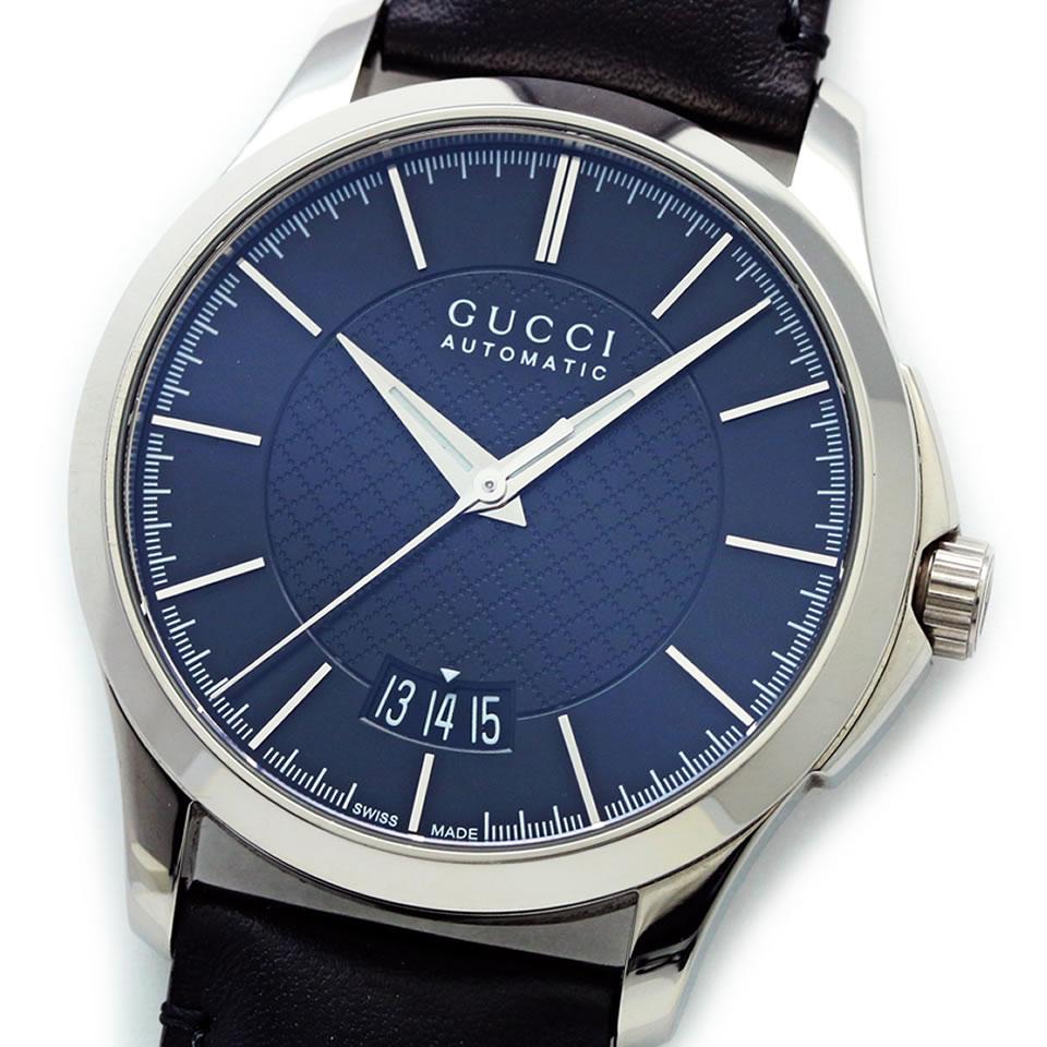 GUCCI G-Timeless Collection Automatic YA126430グッチ YA126430 126.4 Gタイムレス 自動巻き カレンダー(日付) バックスケルトン【ブランド腕時計】 【中古】【PAWN SHOP】【質屋出店】