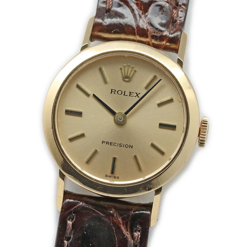 ROLEX PRECISION Ref.2649 Cal.1400 Yellow Gold Watch【antique/VINTAGE】ロレックス プレシジョン Ref.2649 Cal.1400 アンティーク レディース 金無垢 【中古】【ブランド腕時計】【PAWN SHOP】【質屋出店】