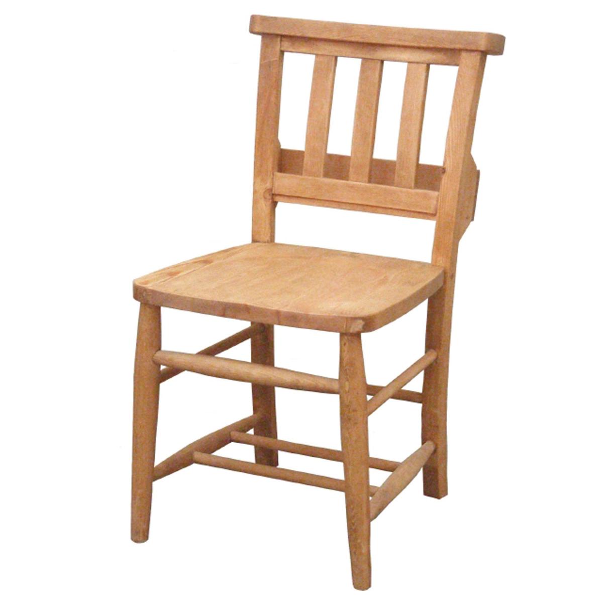 カントリー家具 ナチュラルカントリー【Pine Furniture】パインファニチャー チャーチチェア A002 食卓椅子 イス オスモカラー オイル塗装 パイン材無垢