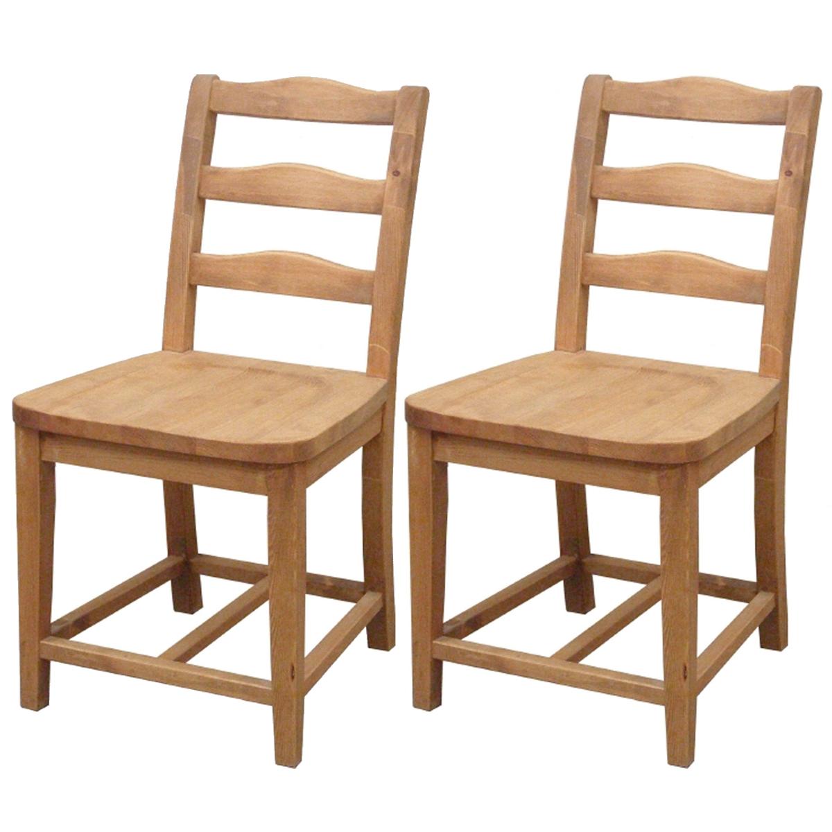 カントリー家具 ナチュラルカントリー【Pine Furniture】パインファニチャー 【お得な2脚セット】 ダイニングチェア A003