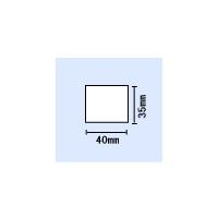 【送料無料】B-858/SA4TP/SA4TM用白無地コート紙 横40mm×縦35mm 〔10巻〕