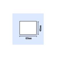 【送料無料】KP-60、50用白無地サーマルタック紙 横60mm×縦48mm 〔5巻〕