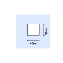 東芝TEC KP-20用白無地サーマル 幅40×長さ38(mm)〔50巻〕