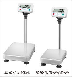【送料無料】デジタル台はかりSC-60KAL/SC-150KAL(ポール付大計量皿)