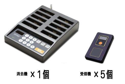 【送料無料】ZERO 消去機1台+受信機5個セット
