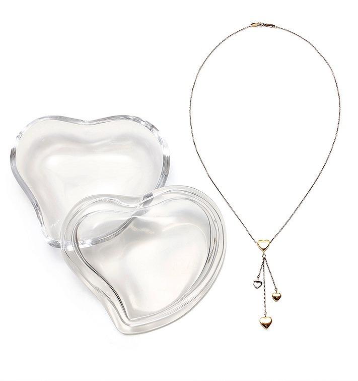 ティファニー マルチハート ネックレス 750 6.4g ガラスケース付き【送料無料】【中古】TIFFANY&Co. 美品