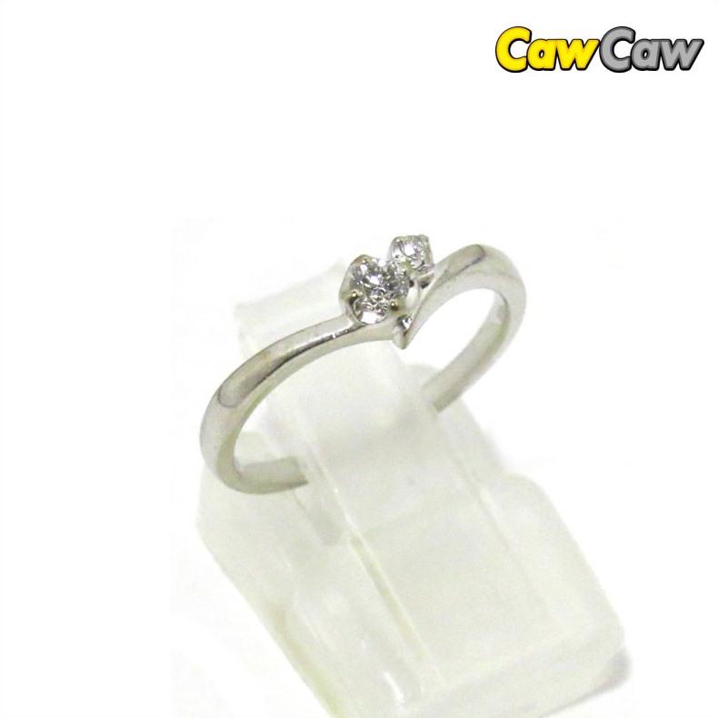 指輪 4℃ ダイヤモンドリング K18WG ホワイトゴールド リング 10号 【送料無料】【中古】4℃ リング